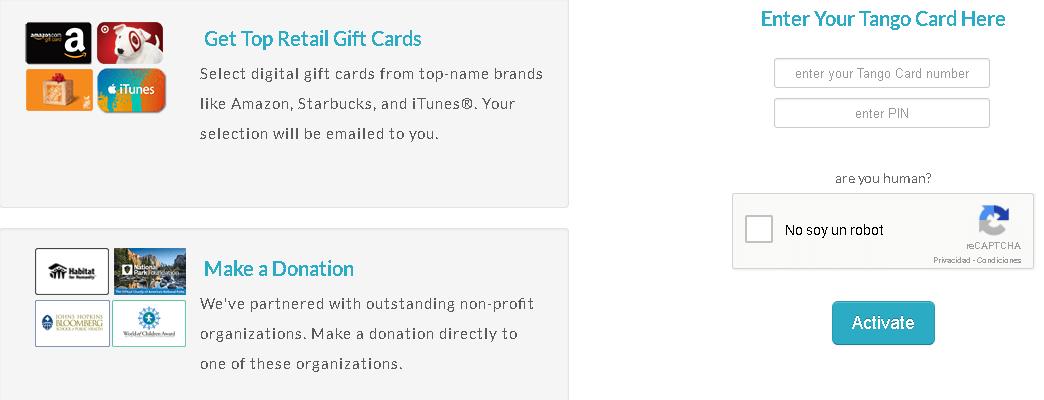 cambiar tarjeta tango card