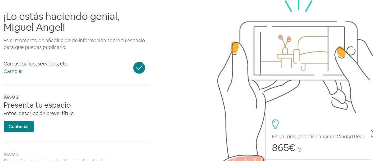 cuánto dinero se puede ganar con airbnb
