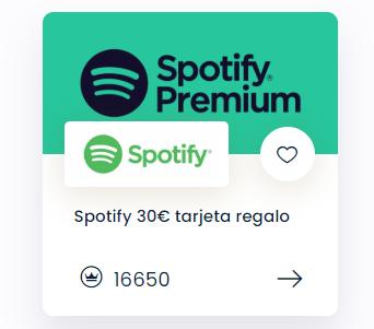 tarjeta spotify premium gratis king of prizes